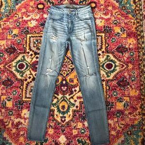 High Waisted America Eagle skinny jeans